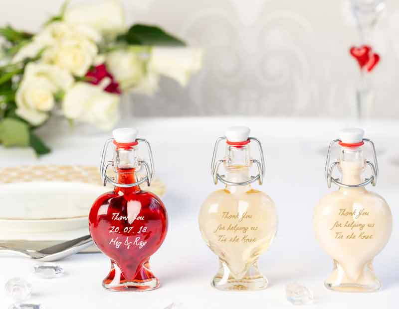 IL Gusto wedding favours - heart  decanter bottle