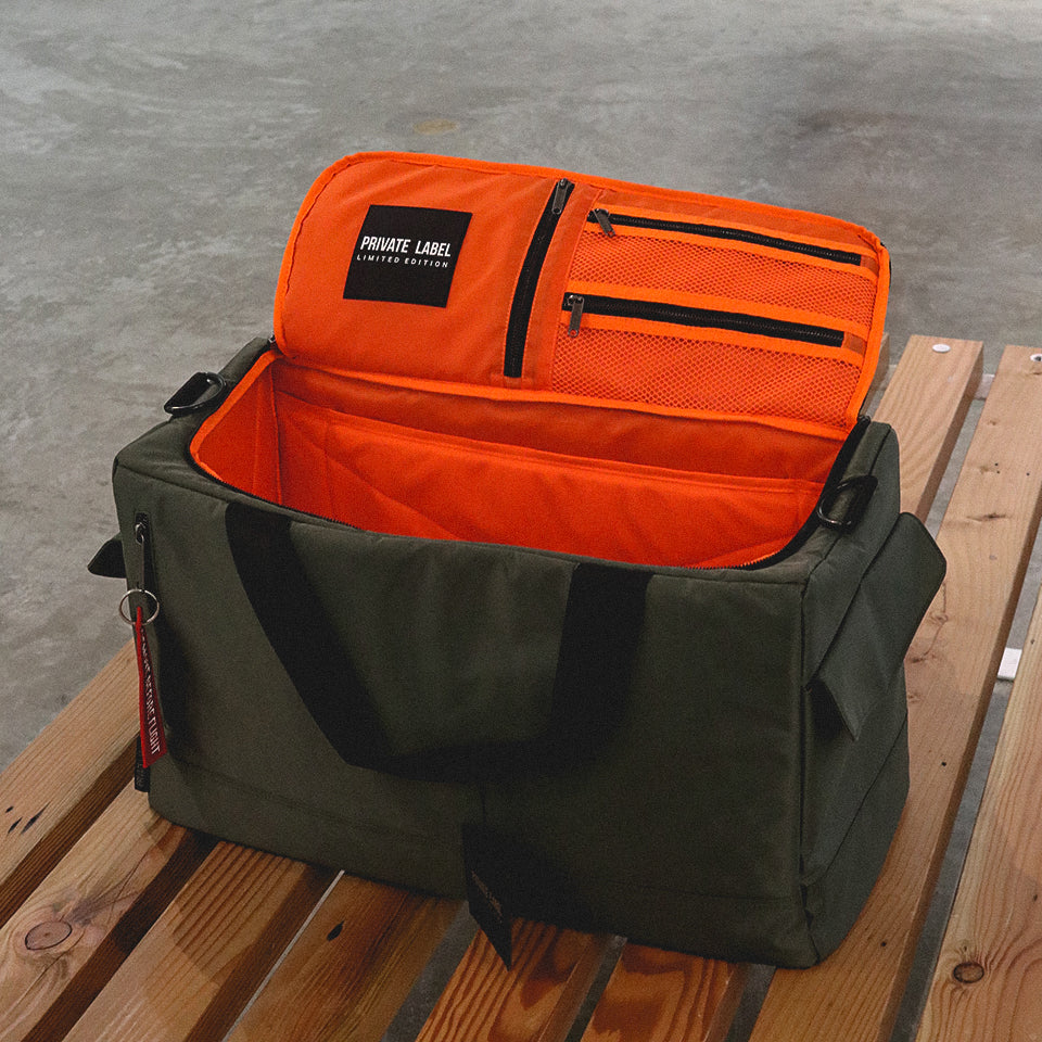Private Label NYC Duffle Bag Green/Orange Coming to Vault.PH Vault Philippines