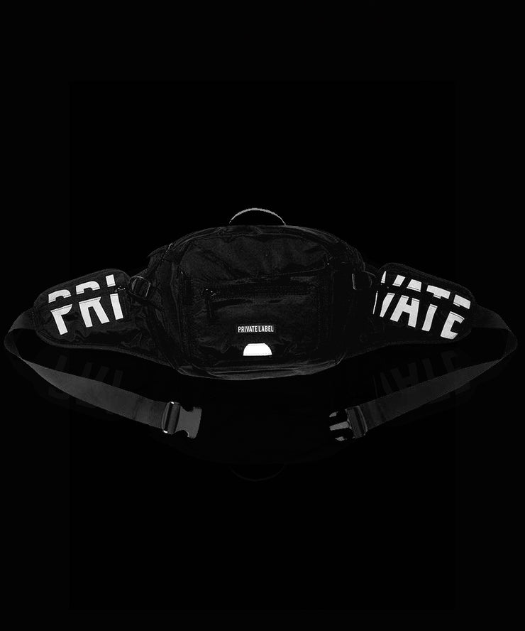 3M Reflective Special Edition Black Waist/Sling Bag by Private Label NYC, Available at Vault.PH, The Official Online Retail Partner in the Philippines