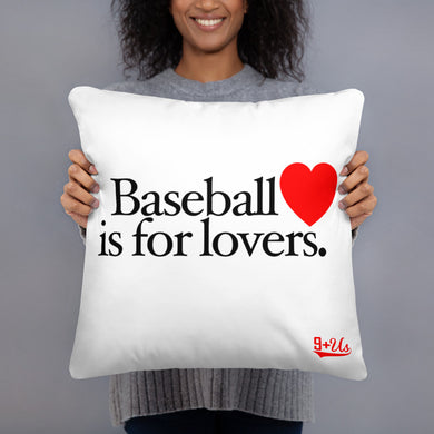 Baseball is for Lovers Pillow - Model
