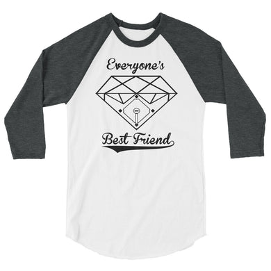 Everybody's Best Friend, Raglan - White/Heather Charcoal