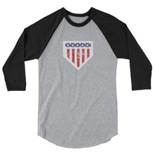 Load image into Gallery viewer, Home of the Brave Raglan - Heather Grey/Black