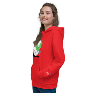 christmas-themed baseball hoodie