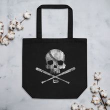 Load image into Gallery viewer, Pirate Baseball Eco Tote Bag Black