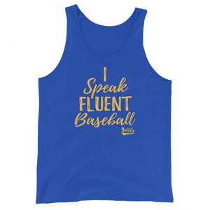 Speak Fluent Baseball Tank - True Royal