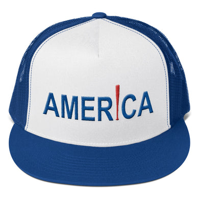 'Merica Trucker Cap - Royal/White/Red