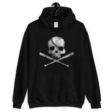 Load image into Gallery viewer, Pirate Baseball Hoodie Black