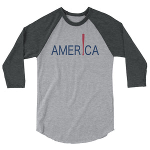 'Merica Raglan - Heather Grey/Heather Charcoal