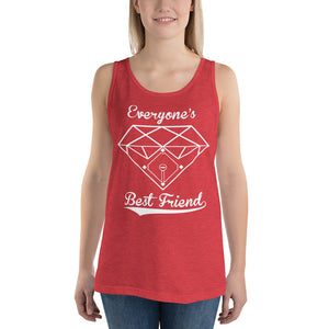 Diamonds Tank - Red Triblend