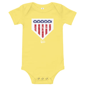 Home of the Brave Onesie - Yellow