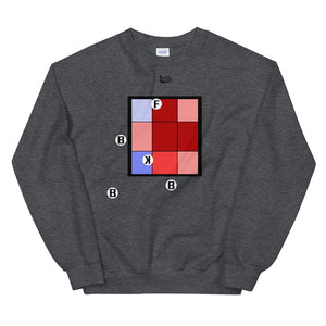 Pitch Pattern Sweatshirt - Dark Heather