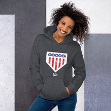 Load image into Gallery viewer, Home of the Brave Hoodie - Model Women's