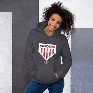 Home of the Brave Hoodie - Model Women's