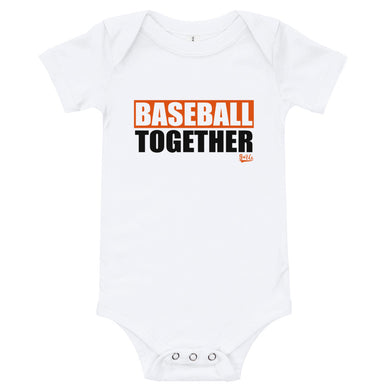 Baseball Together Baltimore Onesie - Home