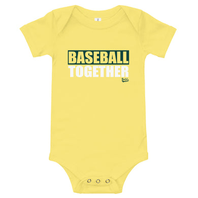 Oakland Onesie Baseball Together - Yellow Alternate