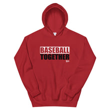 Load image into Gallery viewer, Official Baseball Together Podcast Hoodie - Red