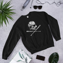 Load image into Gallery viewer, Pirate Baseball Sweatshirt Skull and Cross Bats