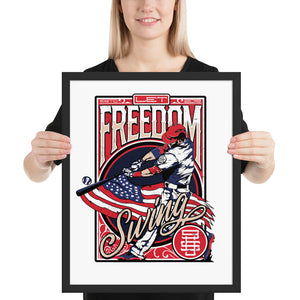 Freedom Swing Framed Poster - 24 x 36