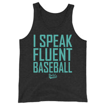 Load image into Gallery viewer, Fluent Baseball Tank - Charcoal-Black Triblend
