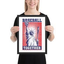 Load image into Gallery viewer, Lady Liberty Baseball Together Framed Print - 12 x 16