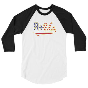 Flag Logo Raglan - White/Black