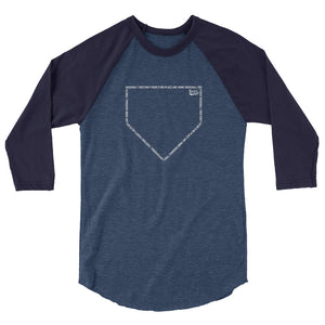 No Place Like Home Baseball Tee - Heather Navy/Denim