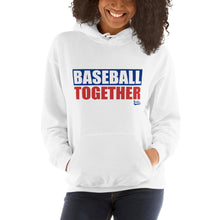 Load image into Gallery viewer, Official Baseball Together Podcast Hoodie - Model Women's