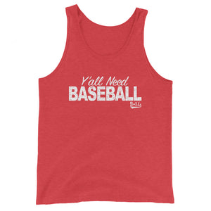 Y'all Need Baseball Tank - Red Triblend