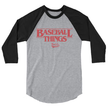 Load image into Gallery viewer, Baseball Things Baseball Tee - Heather Grey/Black