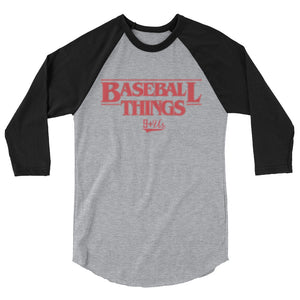 Baseball Things Baseball Tee - Heather Grey/Black