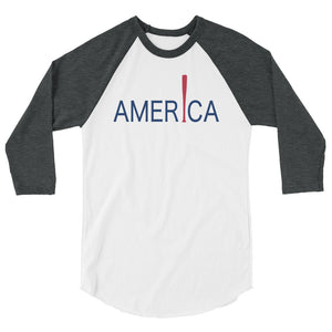 'Merica Raglan - White/Heather Charcoal