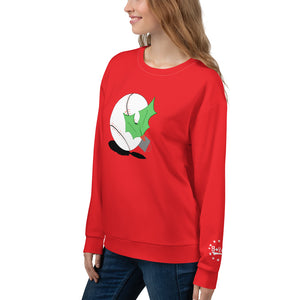 christmas-themed baseball sweatshirt