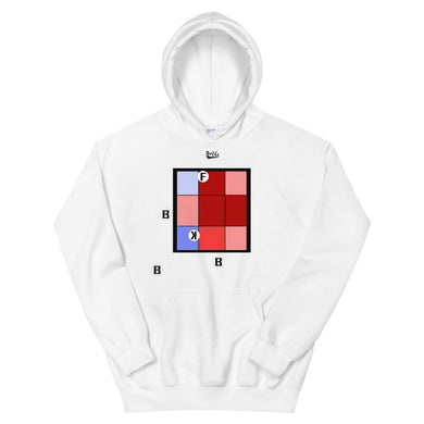 Pitch Pattern Hoodie - White