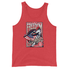 Load image into Gallery viewer, Freedom Swing Tank - Red Triblend