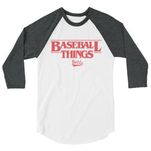 Load image into Gallery viewer, Baseball Things Baseball Tee - White/Heather Charcoal