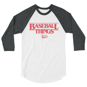Baseball Things Baseball Tee - White/Heather Charcoal