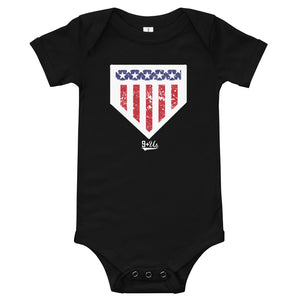 Home of the Brave Onesie - Black
