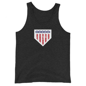 Home of the Brave Tank - Charcoal-Black Triblend