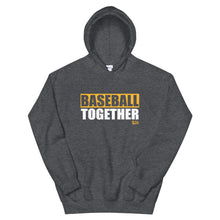 Load image into Gallery viewer, Official Baseball Together Podcast Hoodie - Dark Heather