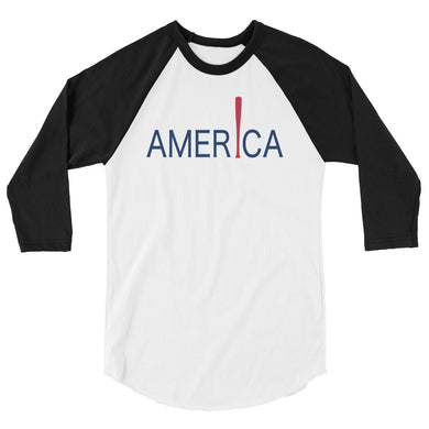 'Merica Raglan - White/Black