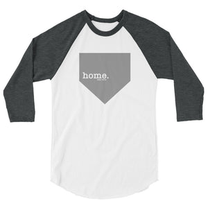 home. shirt Baseball Tee - White/Heather Grey