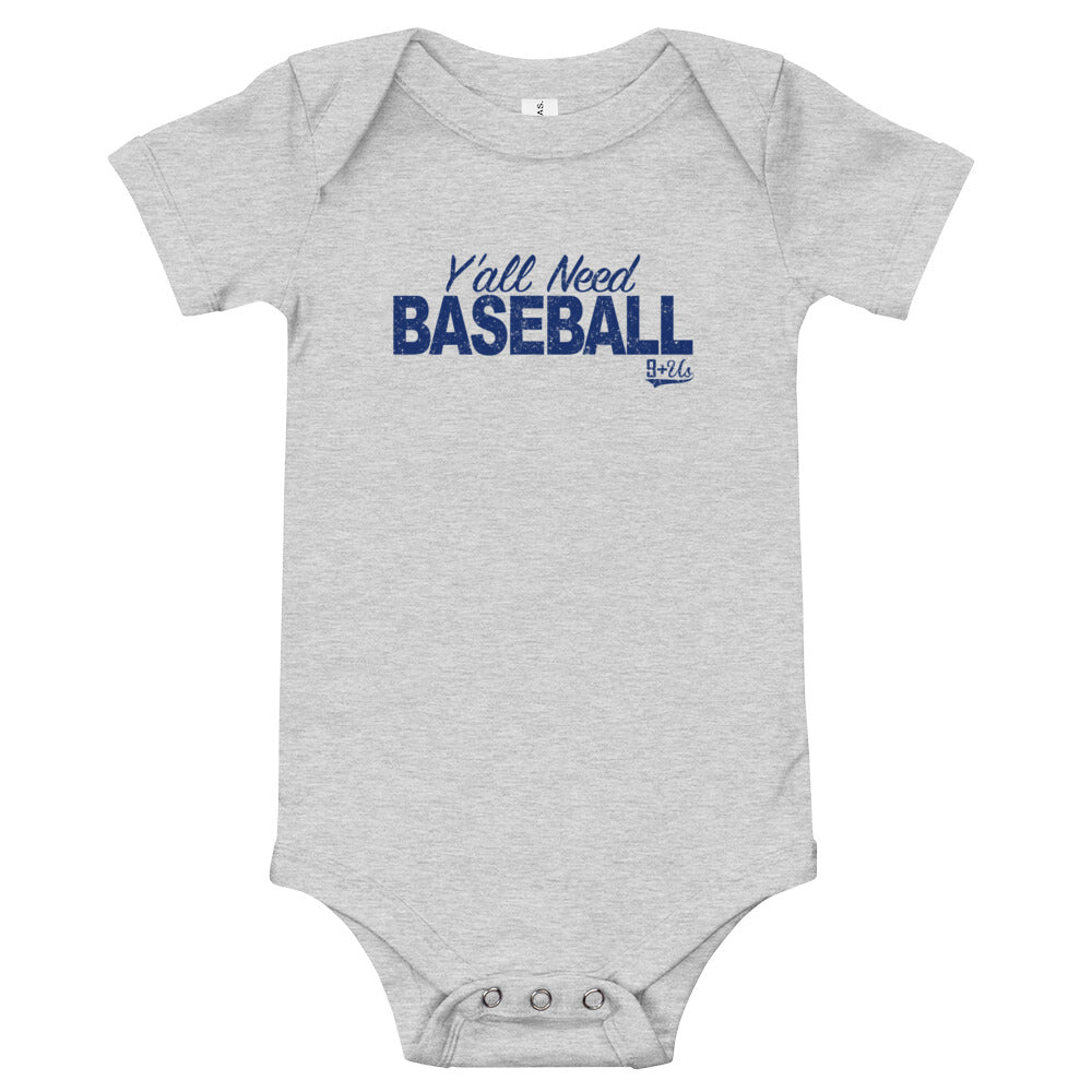 Y'all Need Baseball Onesie - Athletic Heather