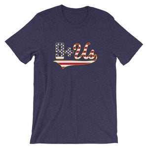 9+Us Flag - Heather Midnight Navy