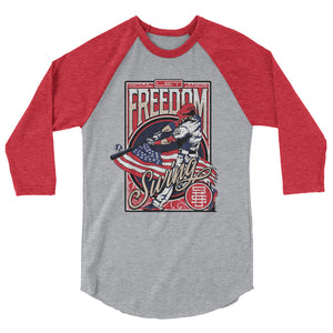 Freedom Swing Raglan - Heather Grey/Heather Red
