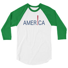 Load image into Gallery viewer, 'Merica Raglan - White/Kelly