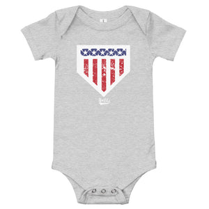 Home of the Brave Onesie - Athletic Heather