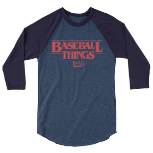 Baseball Things Baseball Tee - Heather Denim/Navy