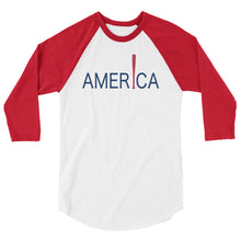 Load image into Gallery viewer, 'Merica Raglan - White/Red