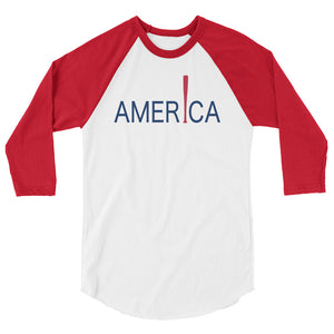 'Merica Raglan - White/Red