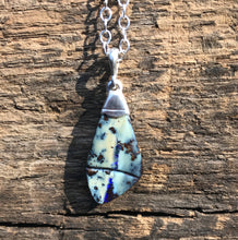 Load image into Gallery viewer, Smooth and Blue Opal Necklace
